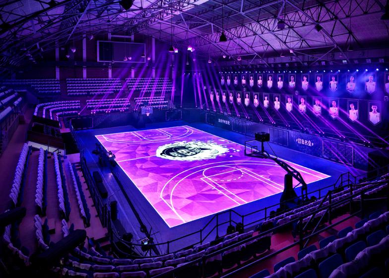 led basketball court in shanghai plusinsight. Black Bedroom Furniture Sets. Home Design Ideas