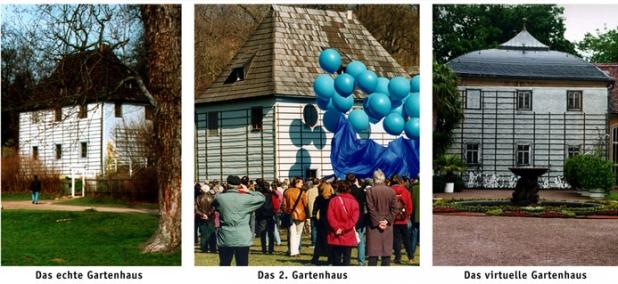 Goethe Gartenhaus - Drei Varianten
