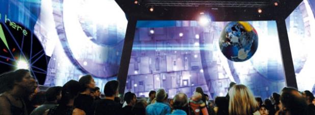 Yellow Strom City Cube - 360 Grad Kino