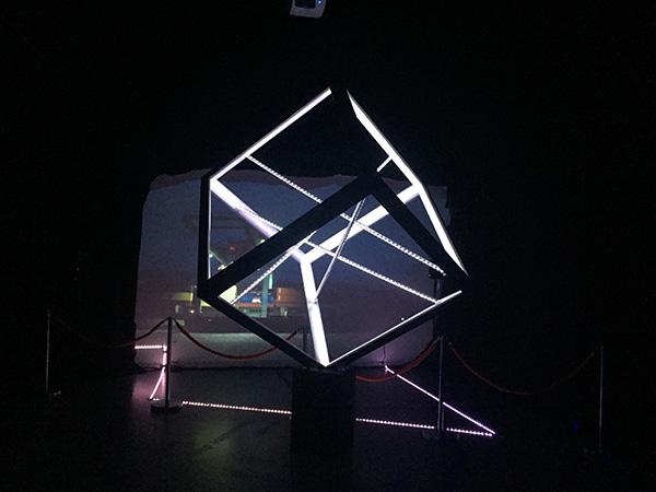 """Interaktive Musik-Licht Installation """"Lichtgrenze"""" an der langen ..."""
